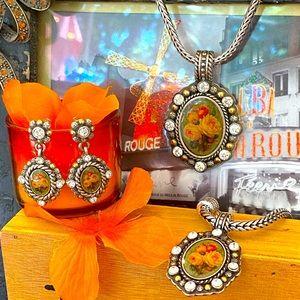"Brighton ""LOVE TOKEN"" Ultra Rare jewelry set"